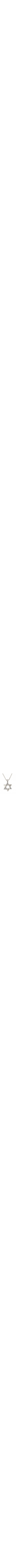 Star of David pendant is made of 14k white gold