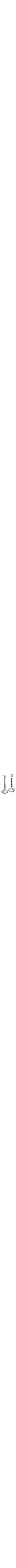 Blue silver sterling candlesticks,