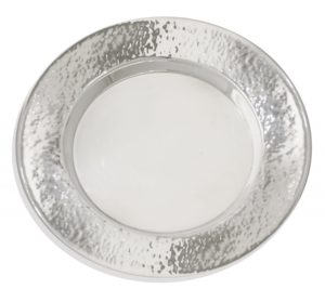 Sterling silver hammered plate