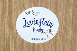 personalized family door sign