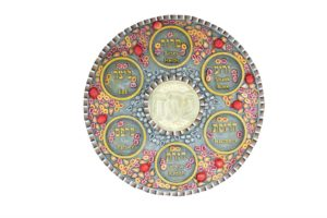 colourful Passover Seder plate