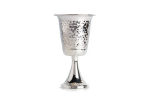 A flared sterling silver Kiddush cup