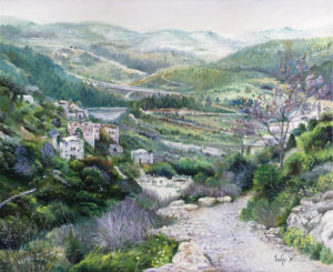 Oil painting Lifta village