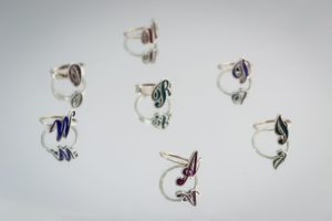 initial rings COLOR silver