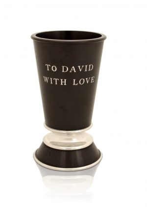 Aluminum Personalized Kiddush Cup & Plate Set