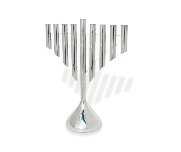 One-of-a-kind Extra Large Silver glass Hanukkah