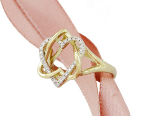 ONE OF A KIND HEART GOLD RING