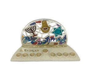 Jewish symbols Chanukiah