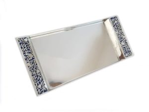 Sterling silver colorful tray Plate