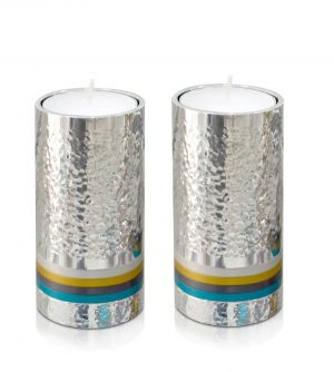 Modern hammered candlesticks