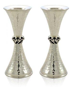 stunning hammered silver Candlesticks