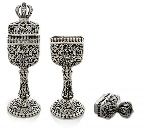 Old Silver Havdallah Set