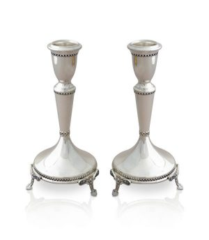 Sterling silver candlesticks in a classic design
