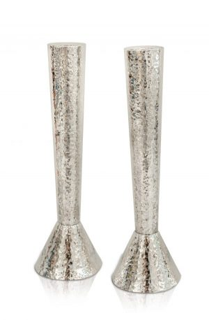 Large Sterling silver Hammered Candlesticks