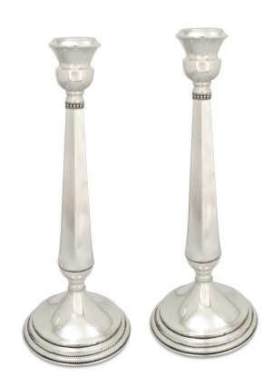 classic sterling silver Large Candlesticks classic sterling silver