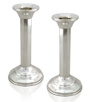 Elegant neo-classical design silver Candlesticks