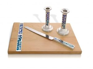 Sterling silver Glorious Shabbat set