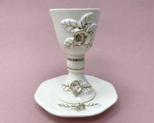 Ceramic Kiddush Cup and Plate