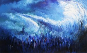Exodus Art modern Crossing the Red Sea