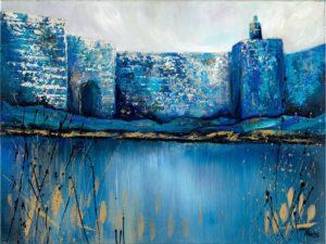 Blue Modern painting jerusalem