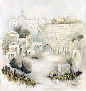 modern home design gift for jewish home Modern painting Israeli art gift jerusalem Art