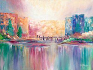 Abstract Original reflections Modern art painting Wall Décor jerusalem
