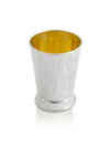 Modern design kiddush cup,925 Silver Judaica Kiddush cup,With internal engraving of the blessings of the wine simple round shape wine goblet